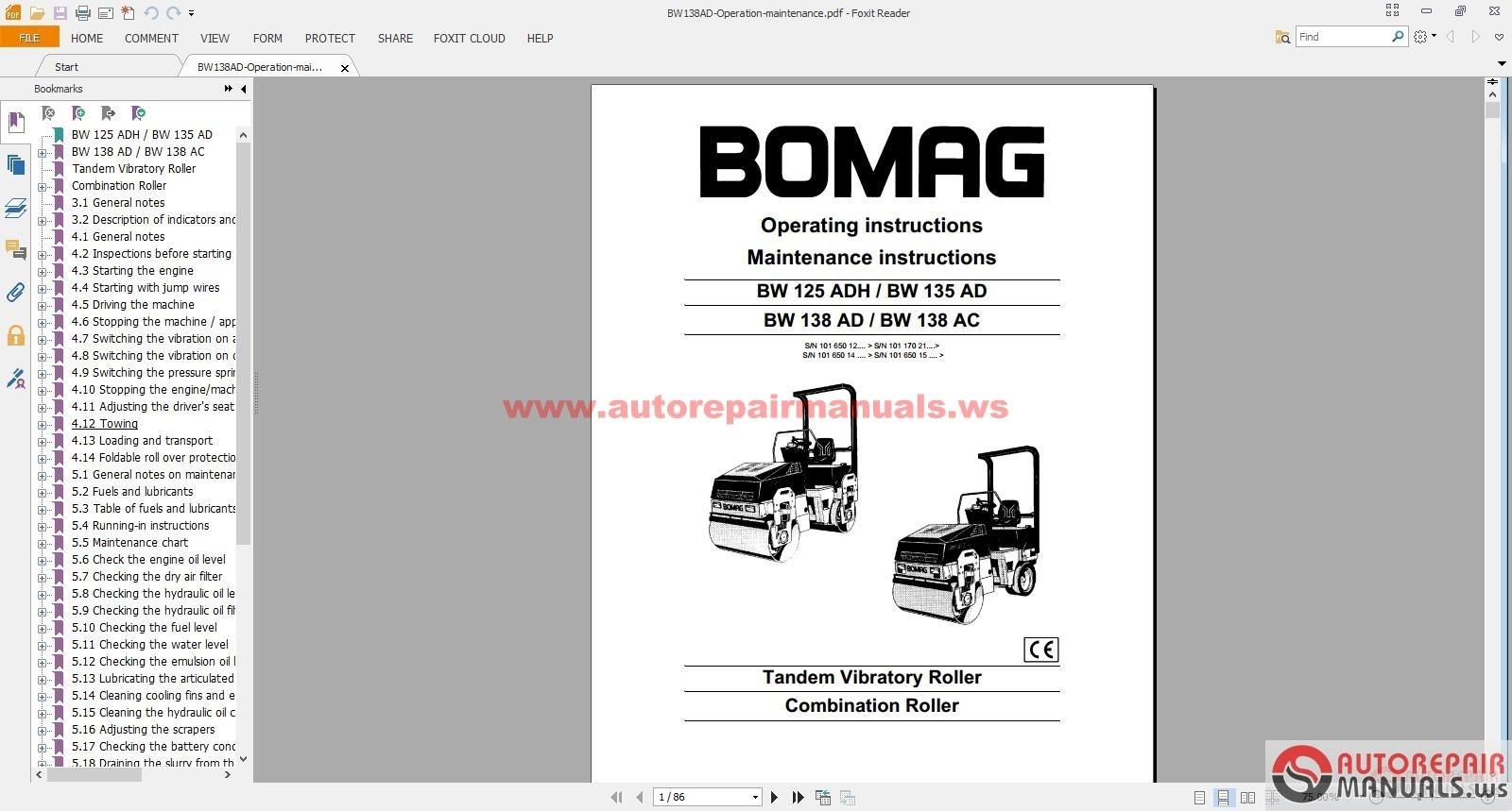 bomag bw100ad 3 wiring diagram 2005 mazda 3 wiring diagram free auto repair manual : bomag full set service manuals ...