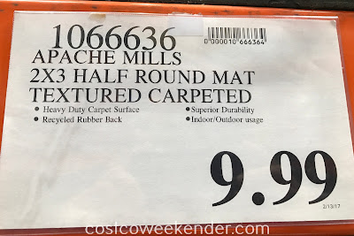 Deal for the Apache Mills Aqua Scraper Half Round Indoor/Outdoor Entrance Mat at Costco