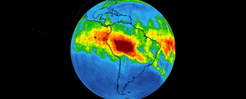 NASA Satellite Captured Horrifying Photos Of Carbon Monoxide Coming Off The Burning Amazon