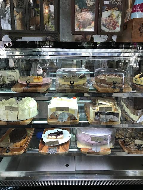 B Story Cafe cakes