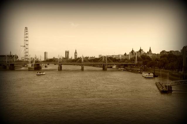Vista su London Eye e Westminster-Londra