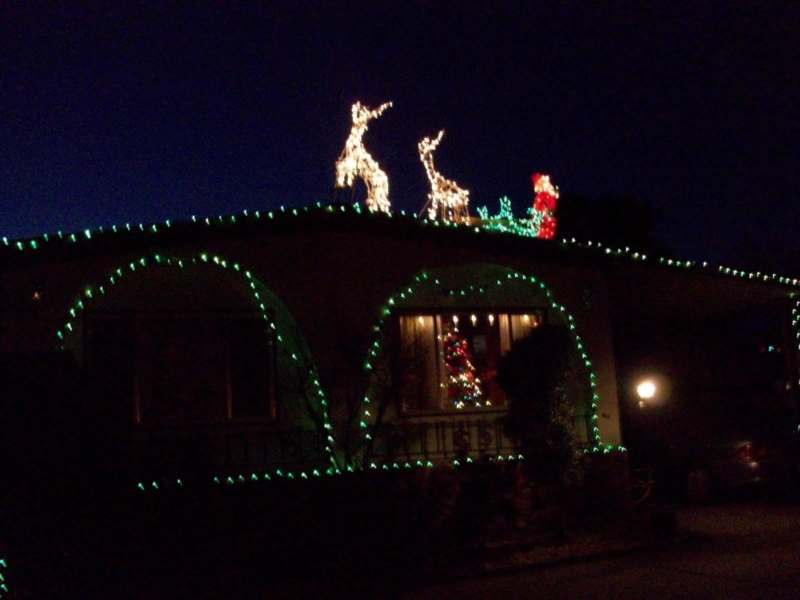 Santa and reindeer roof displays myideasbedroom com