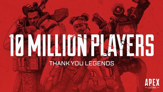 لعبة apex legends تتخطي حاجز 10 مليون لاعب في 72 ساعة فقط!