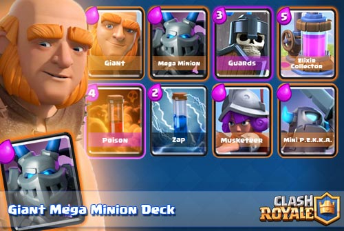 Deck Giant Mega Minion Arena 7 8 9 Clash Royale