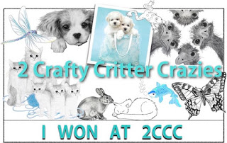 Winner at 2 Crafty Critter Crazies Challenge Blog
