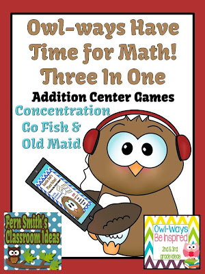 Fern Smith's Classroom Ideas Owl-ways Have Time for Math