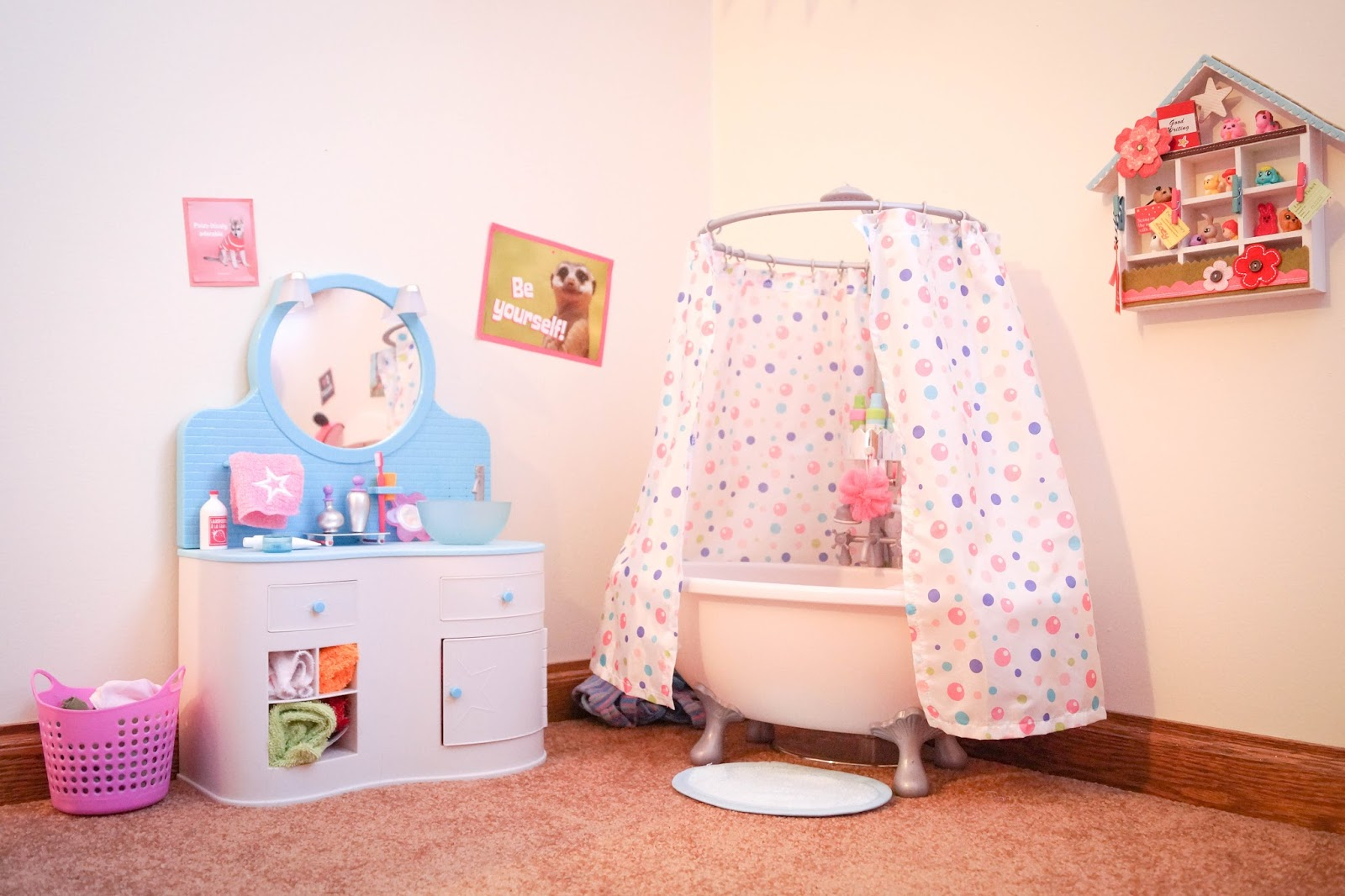 American girl doll play our american girl doll playroom - Things for girls room ...