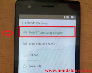 Flash Oppo Neo 5 R1201 (version 16GB) Via OTA