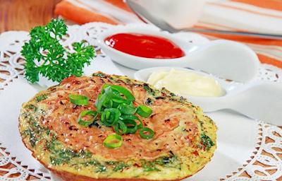 pancake telur kornet