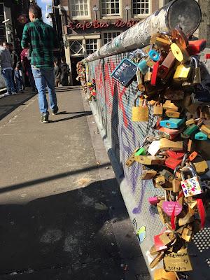 Love lock bridge amsterdam