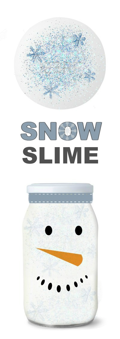 "ICY-COLD SNOW SLIME- only 2 ingredients! (A super ""cool"" winter play time for kids!) #snowslime #slimeforkids #slimerecipes #wintercraftsforkids"