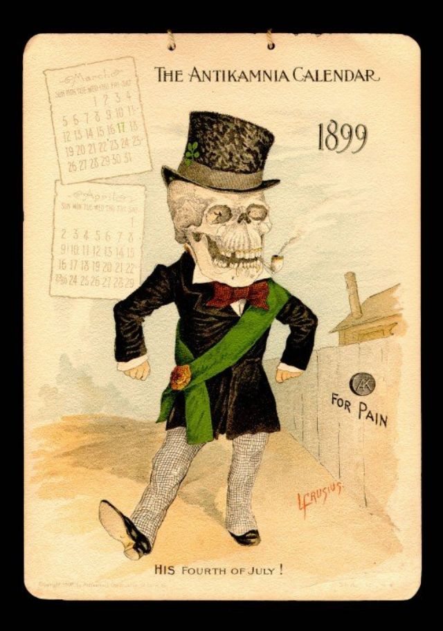 The Antikamnia Chemical Company S Skeleton Calendars Of