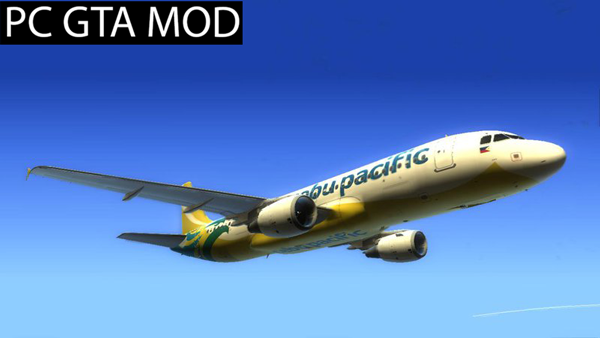 Free Download  Cebu Pacific Airbus A320-214 - RP-C3242 (NC)  Mod for GTA San Andreas.