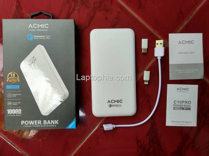 Paket Pembelian Acmic C10Pro 10.000mAh