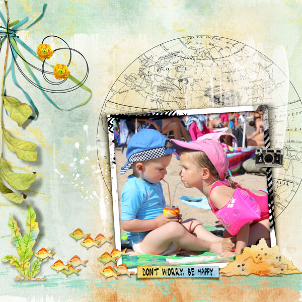 scrapbooking digital clindoeildesign clin d'oeil design Dawn Inskip Deap blue Sea collection