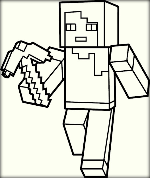 Top  Minecraft Coloring Pages To Color