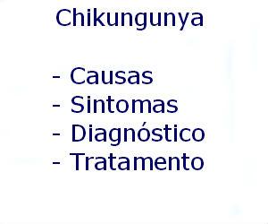 Chikungunya causas sintomas diagnóstico tratamento prevenção riscos complicações