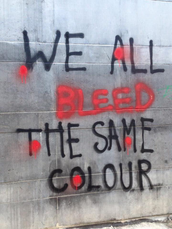 We all bleed the same colour