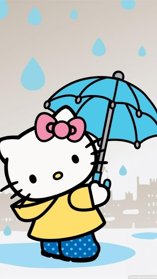 Hello Kitty Holding An Umbrella   Galaxy Note HD Wallpaper