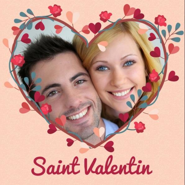 Dia dos namorados-  Cartão com Coração  floral