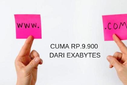 Cara Dapat Domain .COM Cuma Rp.9.900 Dari Exabytes