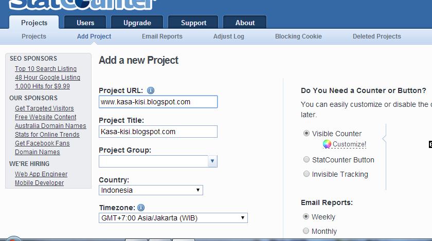 Cara Melihat Statistik Pengunjung Blog Dengan Statcounter 15