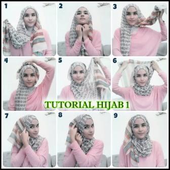 tutorial berhijab style 1