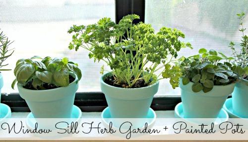Painted Pots Herb Garden Away She Went