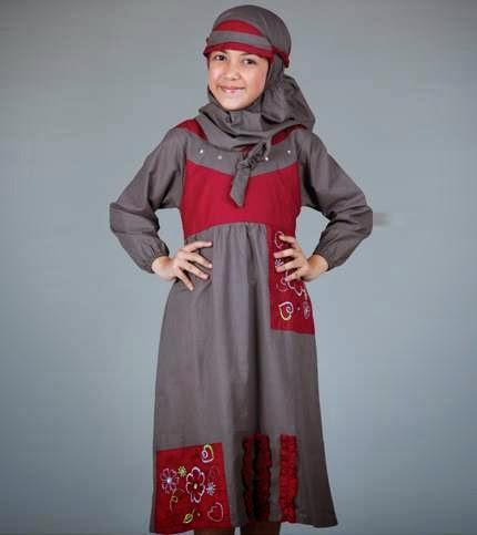Gambar desain baju muslim anak modern 2015