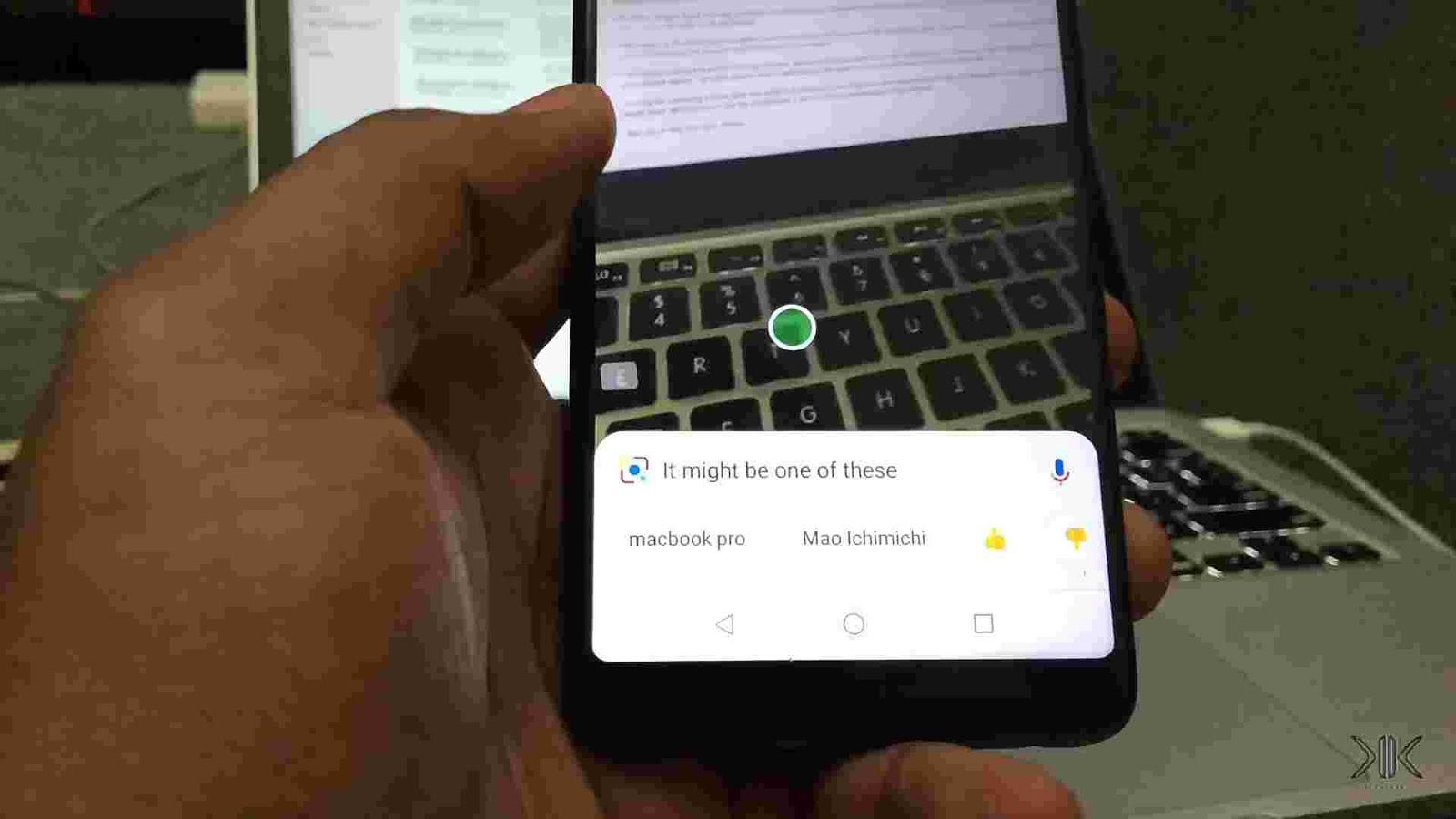 Google Lens smart AI object recognition.