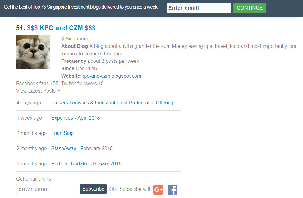 KPO and CZM $$$: How Much is Our Blog Worth as One of the Top 75