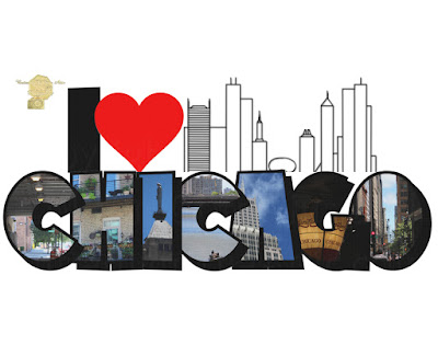 I Heart Chicago Big Letter