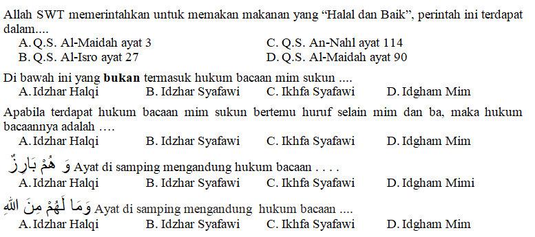 Kisi Kisi Soal Dan Kunci Jawaban Pai Smp Kelas 8 Semester Genap Kurikulum 2013 Didno76 Com