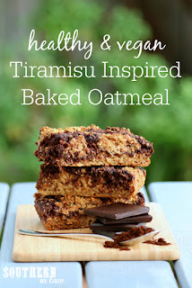 Healthy Tiramisu Baked Oatmeal Recipe Vegan