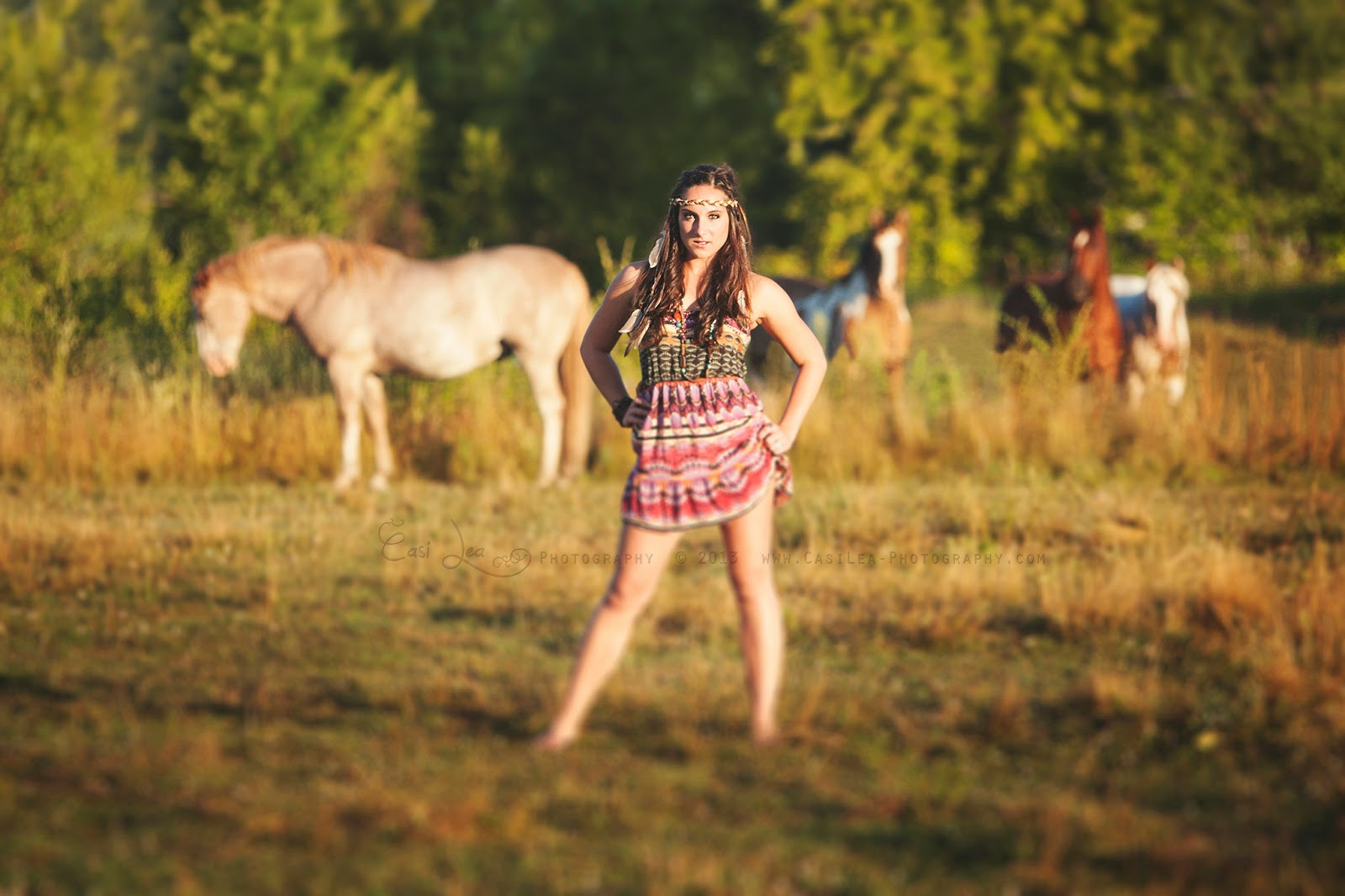 summer bohemian native fashion shoot with horses
