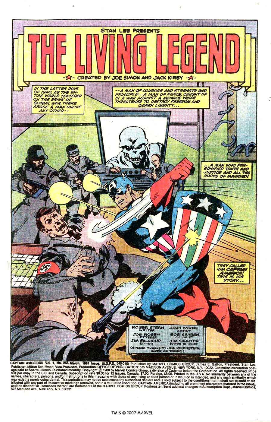 Captain America #255 marvel 1980s bronze age comic book page art by John Byrne