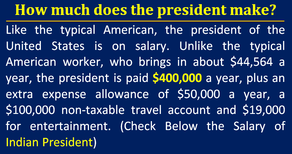 How much does the president make