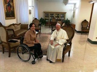 La funcionaria estuvo reunida con el Papa durante una hora, en Santa Marta.