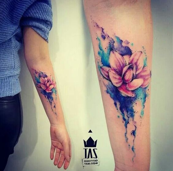 awesome watercolor forearm tattoos