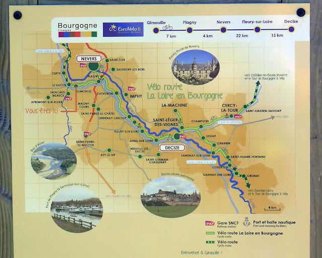 De Paris à Narbonne en vélo, La Loire en Bourgogne