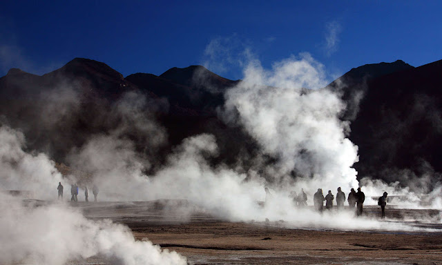 Geysers of El Tatio in Northern Chile.