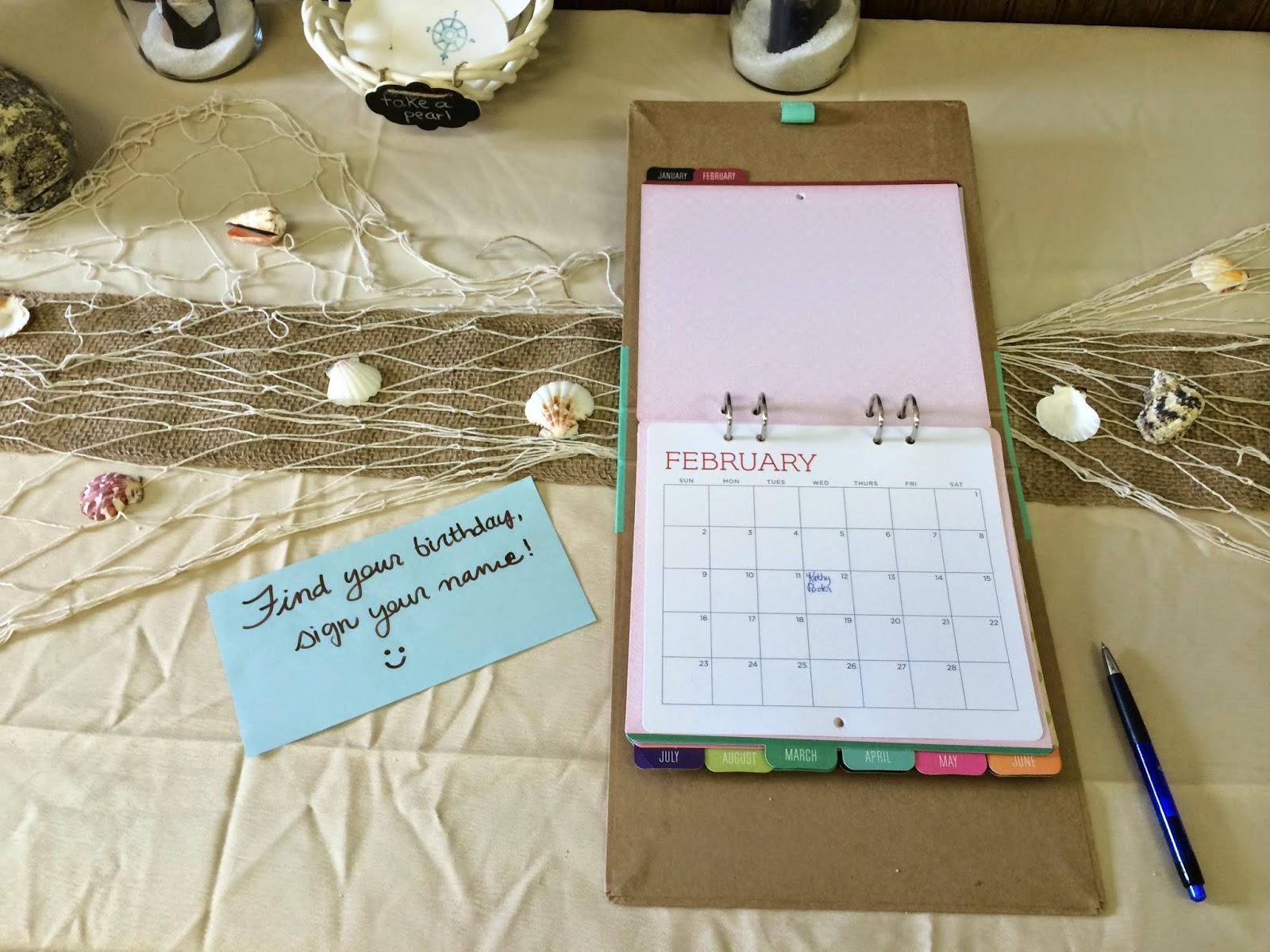 Calendar Ideas Reception : My favorite things jess s beach themed wedding shower