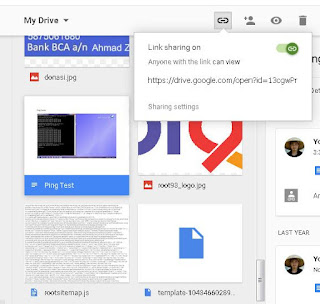 Share Link Dari Google Drive ke Blog