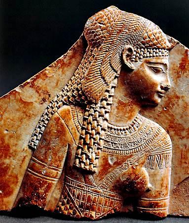 Fragmento de un relieve de Cleopatra VII, Egipto, c. 1ª-c. Siglo III dC.