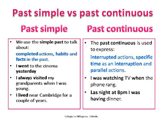 Resultado de imagen de PAST SIMPLE OR CONTINUOUS