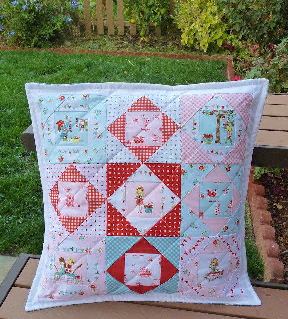 Simple Life, pillow, pillow cover, patchwork, children