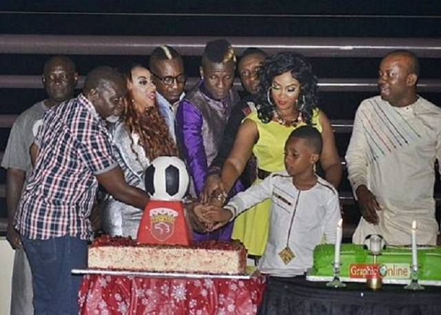 Asamoah Gyan held his 30th birthday