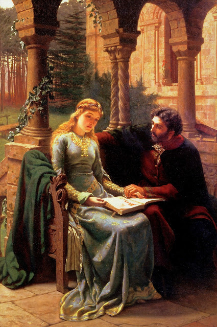 Abelard and his Pupil Heloise by Edmund Leighton (1882)