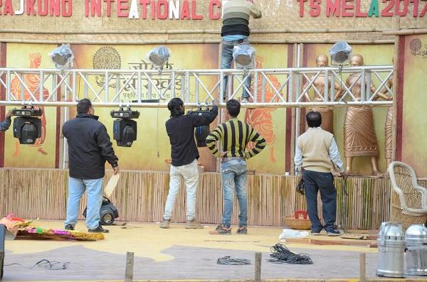 Preparations afoot at Surajkund International Crafts Mela-2017