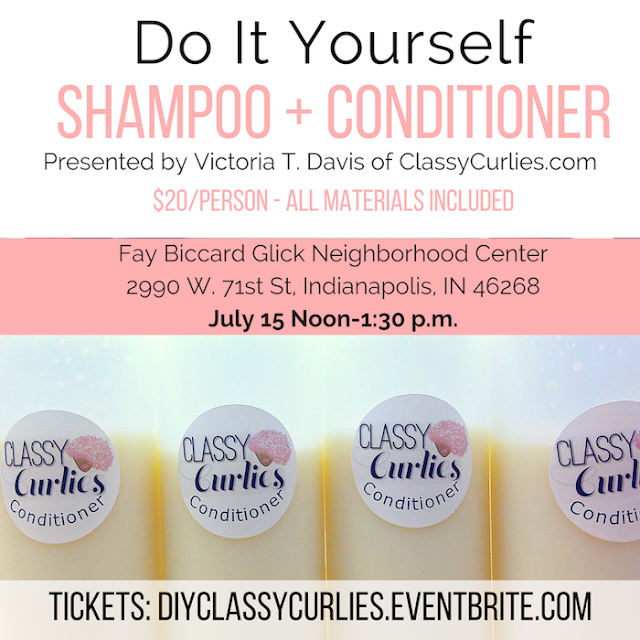 DIY shampoo and conditioner class in Indianapolis - ClassyCurlies